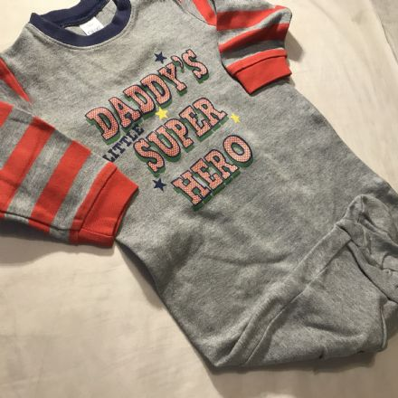 6-9 Months Super Hero Sleepsuit.